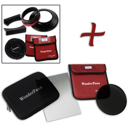 "FotodioX WonderPana FreeArc XL Core Unit Kit for Canon 11-24mm Lens with 186mm Slim, Solid Neutral Density 1.5 and 7.9 x 10.2"" Hard-Edge Graduated Neutral Density 0.6 Filters"