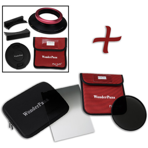 """FotodioX WonderPana FreeArc XL Core Unit Kit for Sigma 14-24mm Art Lens with 186mm Slim, Solid Neutral Density 1.5 and 7.9 x 10.2"""" Hard-Edge Graduated Neutral Density 0.6 Filters"""
