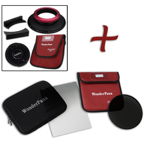 """FotodioX WonderPana FreeArc XL Core Unit Kit for Sigma 14mm Art Lens with 186mm Slim, Solid Neutral Density 1.5 and 7.9 x 10.2"""" Hard-Edge Graduated Neutral Density 0.6 Filters"""