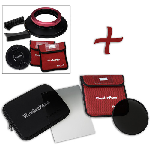 """FotodioX WonderPana FreeArc XL Core Unit Kit for Sigma 12-24mm Art Lens with 186mm Slim, Solid Neutral Density 1.5 and 7.9 x 10.2"""" Soft-Edge Graduated Neutral Density 0.6 Filters"""