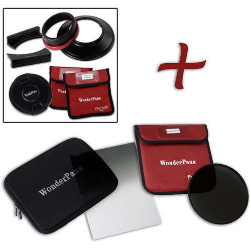 """FotodioX WonderPana FreeArc XL Core Unit Kit for Canon 11-24mm Lens with 186mm Slim, Solid Neutral Density 1.5 and 7.9 x 10.2"""" Soft-Edge Graduated Neutral Density 0.9 Filters"""