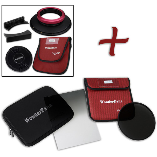 """FotodioX WonderPana FreeArc XL Core Unit Kit for Sigma 14mm Art Lens with 186mm Slim, Solid Neutral Density 1.5 and 7.9 x 10.2"""" Soft-Edge Graduated Neutral Density 0.9 Filters"""
