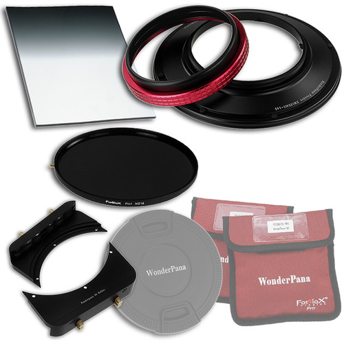 "FotodioX WonderPana FreeArc Core Unit Kit for Sigma 12-24mm II Lens with 145mm Solid Neutral Density 1.2 and 6.6 x 8.5"" Hard-Edge Graduated Neutral Density 0.6 Filters"