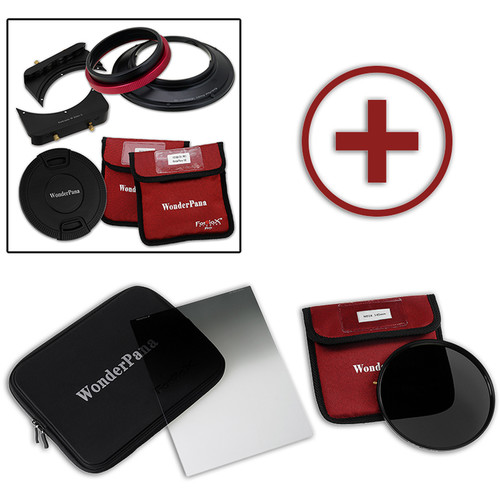 """FotodioX WonderPana FreeArc Core Unit Kit for Sigma 20mm Art Lens with 145mm Solid Neutral Density 1.2 and 6.6 x 8.5"""" Hard-Edge Graduated Neutral Density 0.6 Filters"""