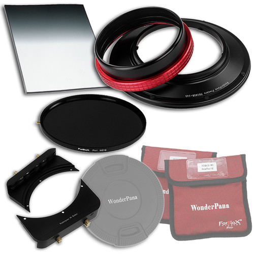 "FotodioX WonderPana FreeArc Core Unit Kit for Tokina 16-28mm Lens with 145mm Solid Neutral Density 1.2 and 6.6 x 8.5"" Hard-Edge Graduated Neutral Density 0.6 Filters"