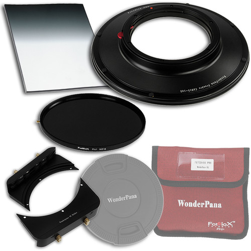 """FotodioX WonderPana FreeArc Core Unit Kit for Canon 8-15mm Fisheye Lens with 145mm Solid Neutral Density 1.2 and 6.6 x 8.5"""" Soft-Edge Graduated Neutral Density 0.6 Filters"""