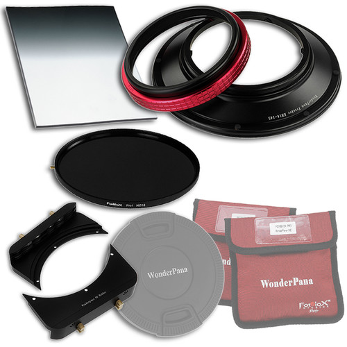 """FotodioX WonderPana FreeArc Core Unit Kit for Rokinon/Samyang 14mm Lens with 145mm Solid Neutral Density 1.2 and 6.6 x 8.5"""" Soft-Edge Graduated Neutral Density 0.6 Filters"""
