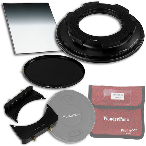 "FotodioX WonderPana FreeArc Core Unit Kit for Sigma 8-16mm Lens with 145mm Solid Neutral Density 1.2 and 6.6 x 8.5"" Soft-Edge Graduated Neutral Density 0.6 Filters"