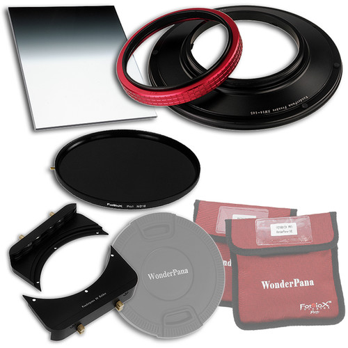 "FotodioX WonderPana FreeArc Core Unit Kit for Sigma 8-16mm Lens with 145mm Solid Neutral Density 1.2 and 6.6 x 8.5"" Hard-Edge Graduated Neutral Density 0.9 Filters"