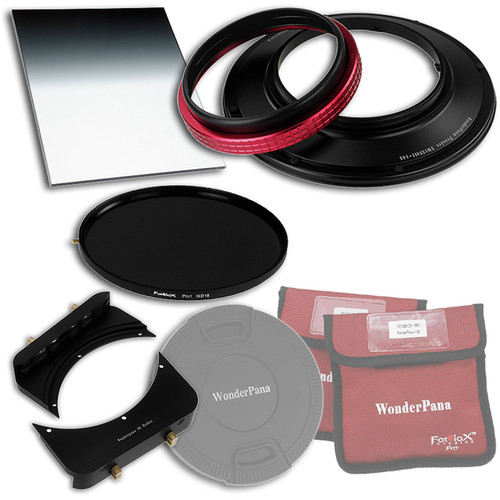 "FotodioX WonderPana FreeArc Core Unit Kit for Sigma 12-24mm II Lens with 145mm Solid Neutral Density 1.2 and 6.6 x 8.5"" Soft-Edge Graduated Neutral Density 0.9 Filters"
