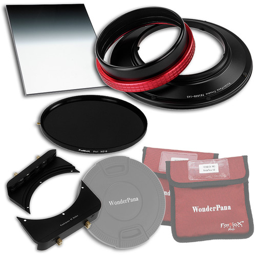 """FotodioX WonderPana FreeArc Core Unit Kit for Tokina 16-28mm Lens with 145mm Solid Neutral Density 1.2 and 6.6 x 8.5"""" Soft-Edge Graduated Neutral Density 0.9 Filters"""