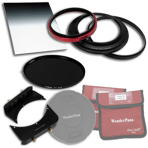 "FotodioX WonderPana FreeArc Core Unit Kit for Zeiss 15mm Lens with 145mm Solid Neutral Density 1.2 and 6.6 x 8.5"" Soft-Edge Graduated Neutral Density 0.9 Filters"