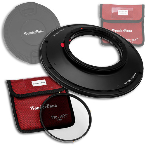 FotodioX WonderPana 145 Core Unit Kit for Canon 8-15mm Lens with 145mm Circular Polarizer Filter