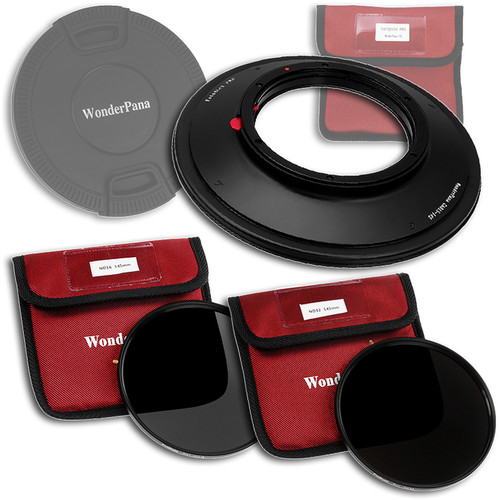 FotodioX WonderPana 145 Core Unit Kit for Canon 8-15mm Lens with 145mm Solid Neutral Density 1.2 and 145mm Solid Neutral Density 1.5 Filters
