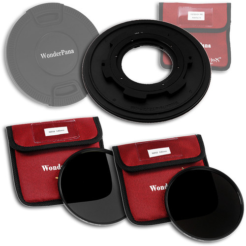 FotodioX WonderPana 145 Core Unit Kit for Tokina 10-17mm Lens with 145mm Solid Neutral Density 1.2 and 145mm Solid Neutral Density 1.5 Filters