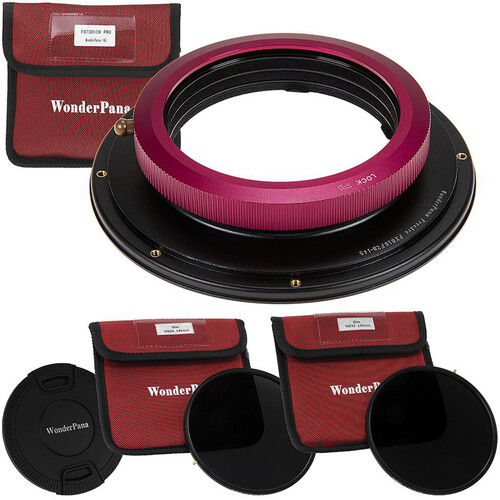 FotodioX WonderPana 145 Core Unit for FUJIFILM 8-16mm Lens with 145mm Solid Neutral Density 1.2 and 1.5 Filters