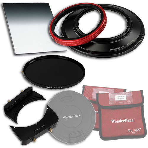 "FotodioX WonderPana 145 Core Unit Kit for Sigma 12-24mm Lens with 6.6 x 8.5"" Hard-Edge Graduated Neutral Density 0.6 and 145mm Circular Polarizer Filters"