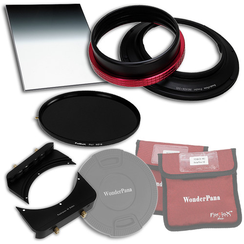"""FotodioX WonderPana 145 Core Unit Kit for Nikon 14-24mm Lens with 6.6 x 8.5"""" Hard-Edge Graduated Neutral Density 0.9 and 145mm Circular Polarizer Filters"""