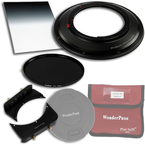 """FotodioX WonderPana 145 Core Unit Kit for Canon TS-E 17mm Lens with 6.6 x 8.5"""" Soft-Edge Graduated Neutral Density 0.9 and 145mm Circular Polarizer Filters"""