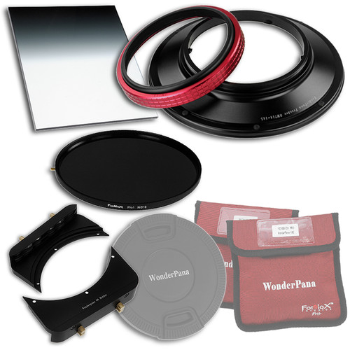 """FotodioX WonderPana 145 Core Unit Kit for Olympus 7-14mm Lens with 6.6 x 8.5"""" Soft-Edge Graduated Neutral Density 0.9 and 145mm Circular Polarizer Filters"""