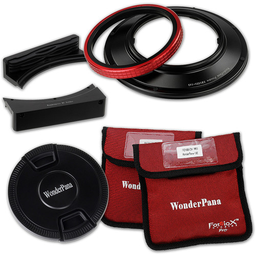 "FotodioX Wonderpana 66 System Kit with 6.6"" Wide Rectangular Filter Holder Bracket for Sigma 12-24mm f/4.5-5.6 EX DG IF HSM Aspherical Ultra Wide Angle Zoom Lens"