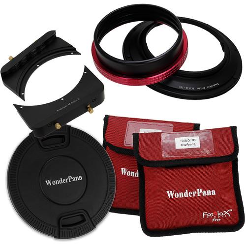 """FotodioX Wonderpana 66 FreeArc Kit with 6.6"""" Wide Rectangular Filter Holder Bracket for Nikon 14-24mm AF-S Zoom Nikkor f/2.8G ED AF Lens"""