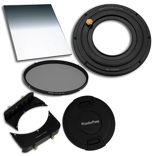 FotodioX WonderPana FreeArc 66 77mm Step-Up Ring Essentials ND Kit with 0.6 Soft Edge Graduated ND Filter