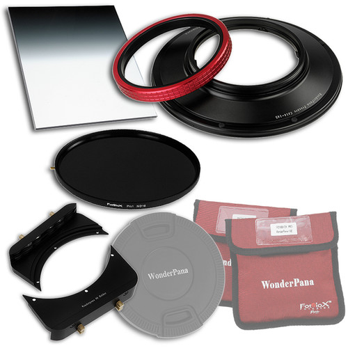 """FotodioX WonderPana FreeArc Core Unit Kit for Canon 14mm Lens with 145mm Solid Neutral Density 1.2 and 6.6 x 8.5"""" Hard-Edge Graduated Neutral Density 0.9 Filters"""