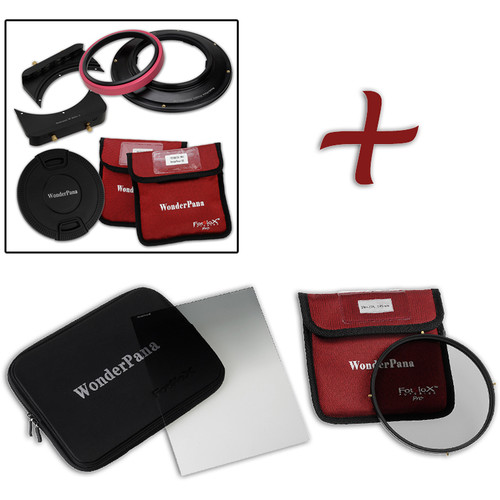 """FotodioX WonderPana FreeArc Core Unit Kit for Sony 12-24mm Lens with 6.6 x 8.5"""" Hard-Edge Graduated Neutral Density 0.6 and 145mm Circular Polarizer Filters"""