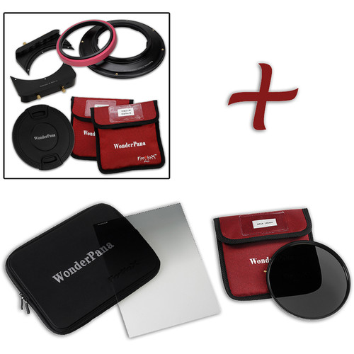FotodioX WonderPana FreeArc Core Filter Holder and Bracket with ND 16 and Hard-Edge Graduated ND 0.6 Filters Kit for Sony 12-24mm Lens