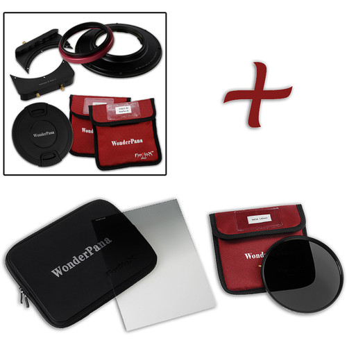 "FotodioX WonderPana FreeArc Core Unit Kit for Olympus M.Zuiko 7-14mm PRO Lens with 145mm Solid Neutral Density 1.2 and 6.6 x 8.5"" Soft-Edge Graduated Neutral Density 0.6 Filters"