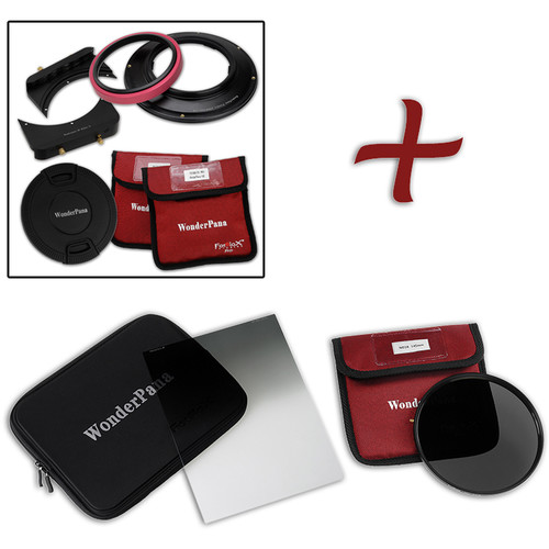 FotodioX WonderPana FreeArc Core Filter Holder and Bracket with ND 16 and Soft-Edge Graduated ND 0.9 Filters Kit for Sony 12-24mm Lens
