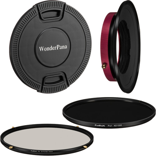 FotodioX WonderPana FreeArc Core Unit for FUJIFILM 8-16mm Lens with 145mm Circular Polarizer and 145mm Solid Neutral Density 3.0 Filters