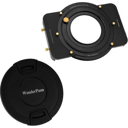 "FotodioX WonderPana 6.6"" Holder Bracket Kit with 77mm-145mm WonderPana FreeArc Aluminum Step-Up Ring and 145mm Center-Pinch Snap-On Lens Cap"