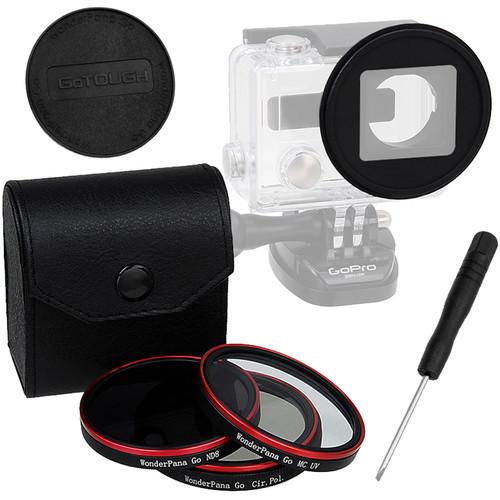 FotodioX Pro WonderPana Go H3+ Standard GoTough Adapter & Filter Kit for GoPro HERO3+/HERO4 Cameras