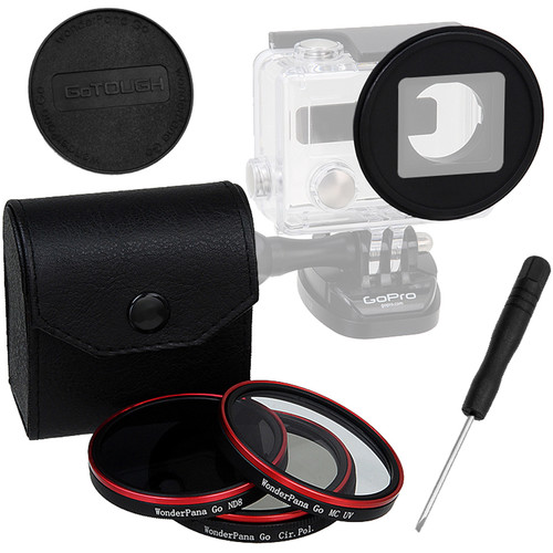 FotodioX Pro WonderPana Go H3+ Standard GoTough Adapter & Filter Kit for GoPro HERO3+/HERO4 Cameras