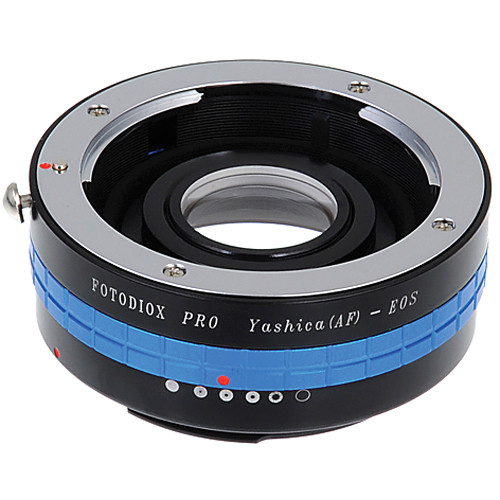 FotodioX Pro Lens Mount Adapter for Yashica AF Lens to Canon EF-Mount Camera with Dandelion Focus Confirmation Chip