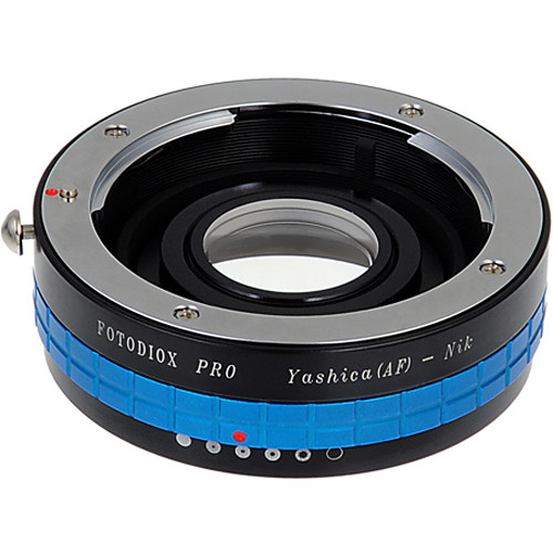 FotodioX Pro Mount Adapter with Aperture Control Dial for Yashica 230-AF Lens to Nikon F-Mount Camera