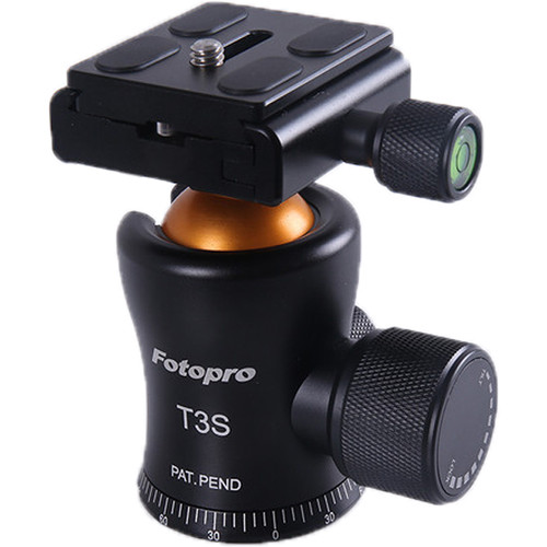 Fotopro T3S Alu-Mag Slim Waist Series Ball Head