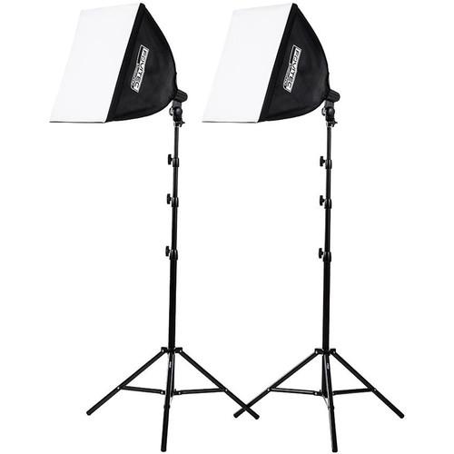 Fovitec 2-Light Quick Setup High-Power Fluorescent Lighting Kit