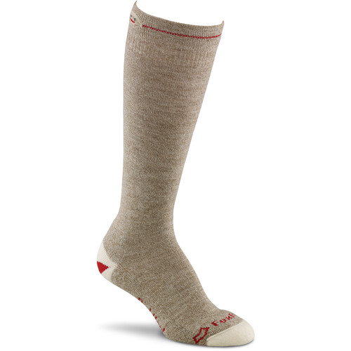 Fox River Large Lightweight Monkey Knee-High Womens Socks (Brown Heather)