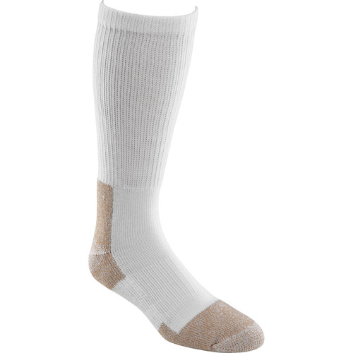 Fox River 2 Pairs Large Steel-Toe Wick Dry Crew Socks (White)