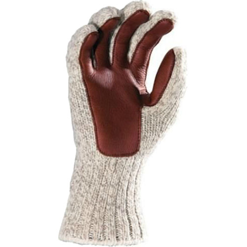 Fox River Large Ragg & Leather Gloves (Brown Tweed)