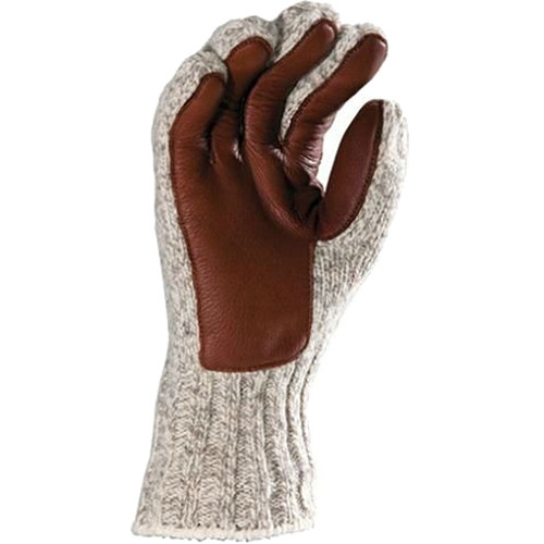 Fox River 4-Layer Ragg Wool Large Gloves with Deer Leather Palm (Brown Tweed)