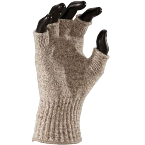 Fox River Mid Weight Ragg Wool Fingerless Gloves (Brown Tweed, Medium)
