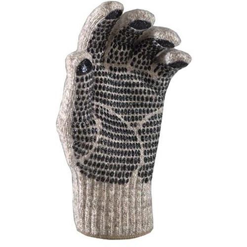 Fox River Ragg Wool Medium Gripper Gloves with Elastic Cuffs (Brown Tweed)