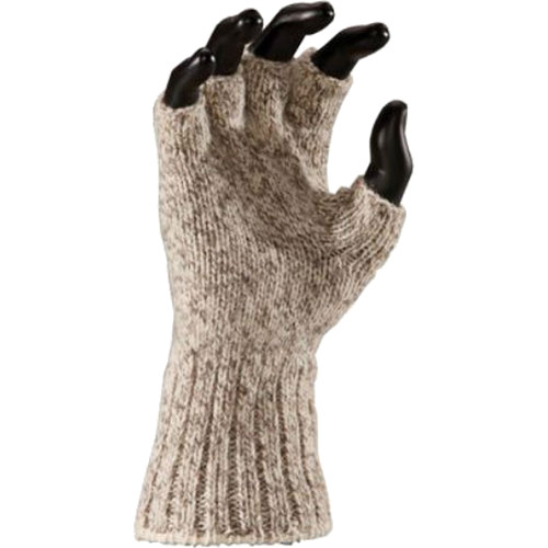 Fox River Heavy Weight Ragg Wool Fingerless Gloves (Brown Tweed, Small)