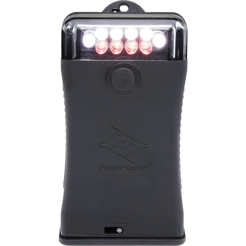 FoxFury Scout Clip Light with Red & White LEDs (Black)