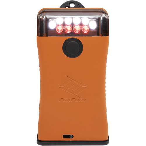 FoxFury Scout Clip Light with Red & White LEDs (Orange)
