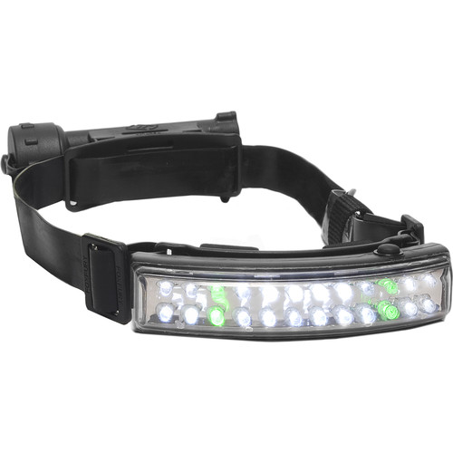 FoxFury Performance Fire Tilt White/Green LED Helmet Headlamp